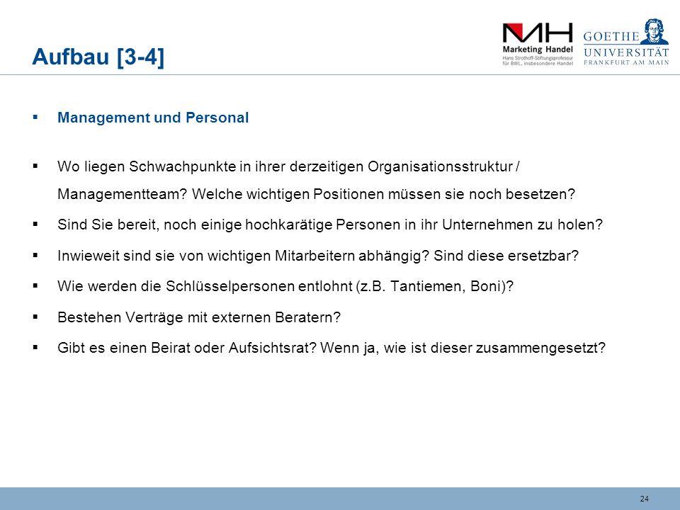 Aufbau [3-4] Management und Personal